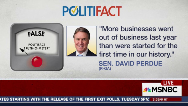 Sen. Perdue Politifact Check