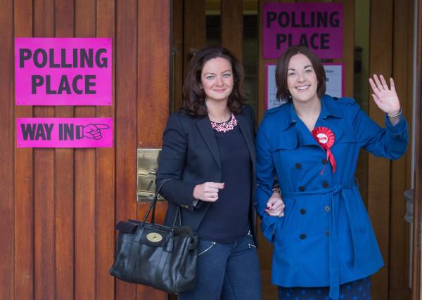 Image: Scottish Labour Leader Kezia Dugdale Casts Her Vote
