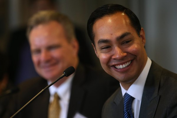 Image: Julian Castro Tours New Housing Facility For Recently Homeless Vets In CA