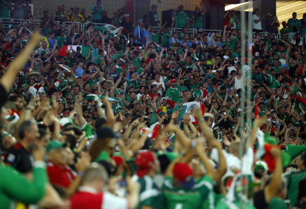 Image: Mexico fans chanted a gay slur at a game in Arizona on Sunday, despite being fined by FIFA for previous homophobic slurs.