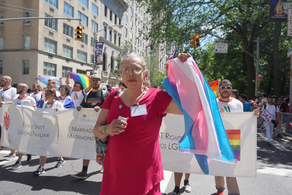 Brooke Cerda, a Mexican immigrant and transwoman, marched with the parade in solidarity with queer people affected by violence every day in the United States.