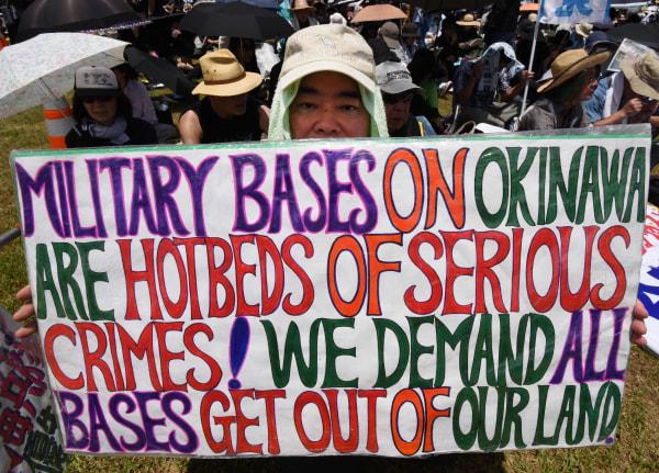 Image: JAPAN-US-MILITARY-OKINAWA-CRIME-PROTEST-DEFENCE