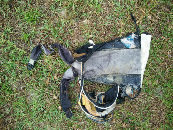Image: Remnants of bag found on Riake Beach