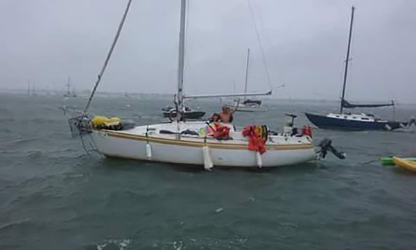 Image: The missing family on their 29-foot sailboat