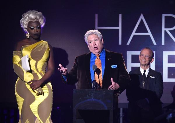 Honoree Harvey Fierstein speaking at the Logo TV 2016 Trailblazer Honors