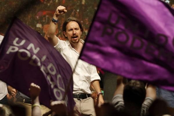 Image: Podemos Party leader Pablo Iglesias