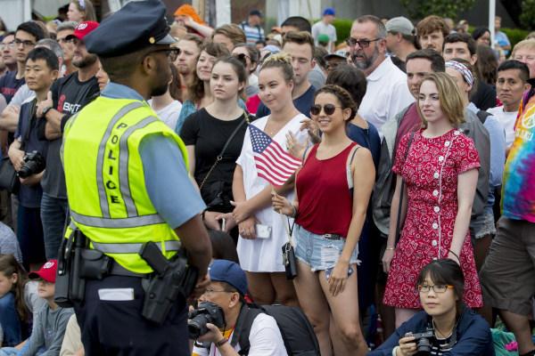 Image: Independence Day parade in Washington DC