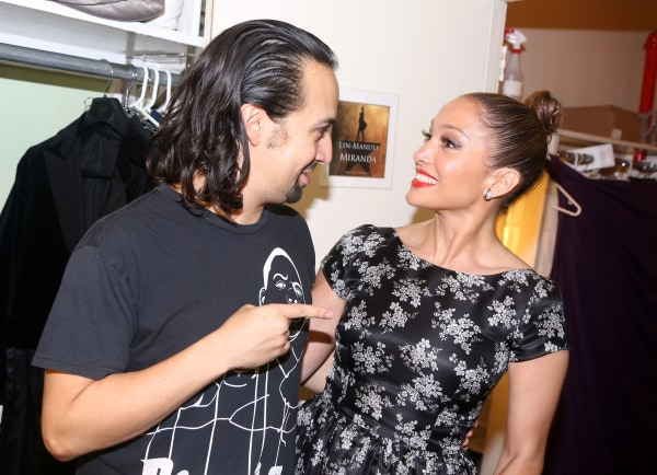 Lin-Manuel Miranda and Jennifer Lopez on August 1, 2015