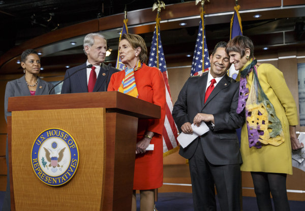 Image: Nancy Pelosi announces Rep. Ben Ray Lujan as head of the Democratic Congressional Campaign Committee