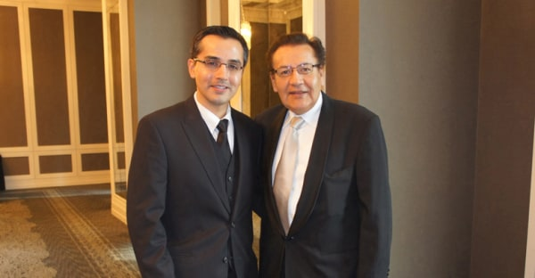 Dr. Alvaro R. Encinas, current BAMS president, and his father, Dr. Eduardo Encinas, past BAMS president.