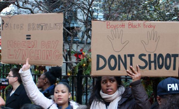 Protest in New York against Ferguson grand jury decision