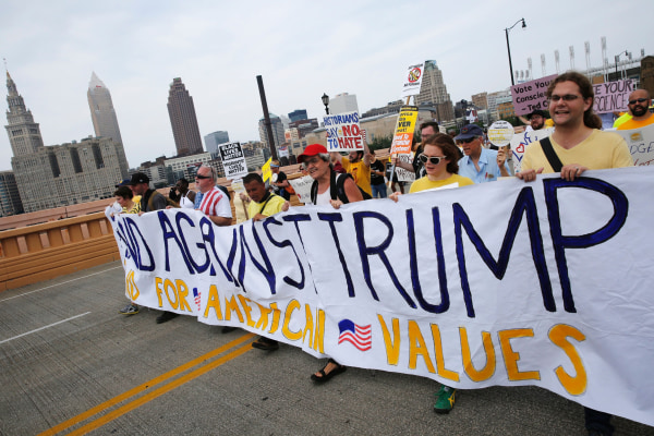 Image: US-VOTE-REPUBLICANS-CONVENTION-PROTEST