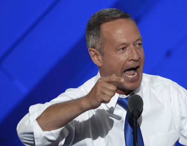 Image: Former Governor of Maryland O'Malley speaks on the third day of the Democratic National Convention in Philadelphia