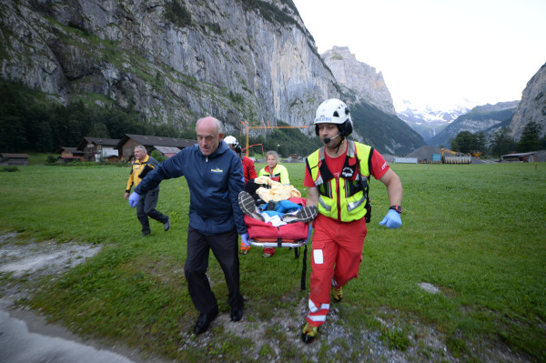 Image: Coleman Sperando was finally brought down from the cliff at first light on Monday.