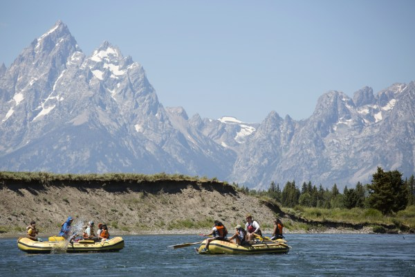 Image: Millie Jimenez floats down the Snake River with Latino students from the nearby town of Jackson
