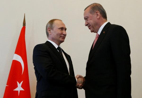 Image: Vladimir Putin and Recep Tayyip Erdogan on Aug. 9, 2016