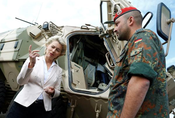 Image: German Defense Minister Ursula von der Leyen