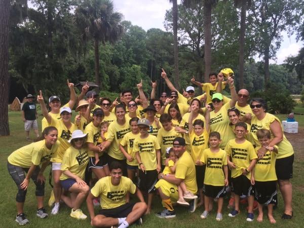 The Lizama Family Reunion team Yellow.