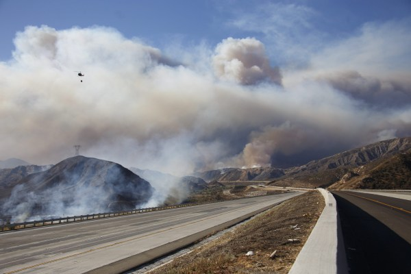18,000 acres Burning AND 82,000 people told to Evacuate in California!  160817-usnews-wildfire-blue-cut-smoke-highway-0255_8c3bc64fa032696e70f15f5d81169b2d.nbcnews-ux-600-480