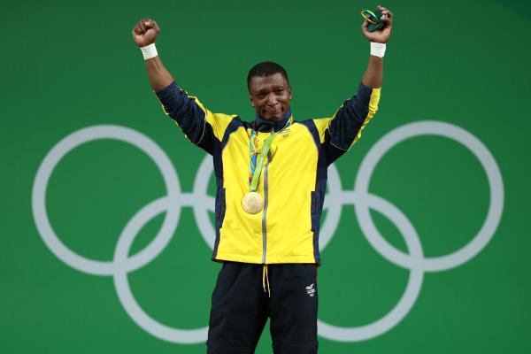 Gold Medalist Oscar Albeiro Figueroa Mosquera of Colombia