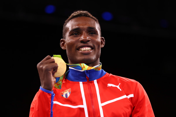 Gold Medalist Julio Cesar La Cruz of Cuba Wins Gold