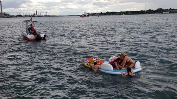 IMAGE: St. Clair River rescue