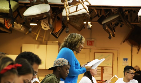 Porchlight Music Theatre's In The Heights cast at a recent rehearsal