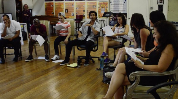 Porchlight Music Theatre's In The Heights cast at a recent rehearsal.