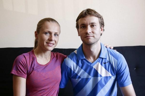 Image: Russian Olympian couple Yuliya and Vitaly Stepanovs