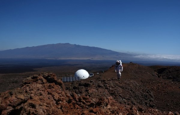 Image: A HI-SEAS crewmember participates in a year-long simulated Mars mission in Mauna Loa, Hawaii