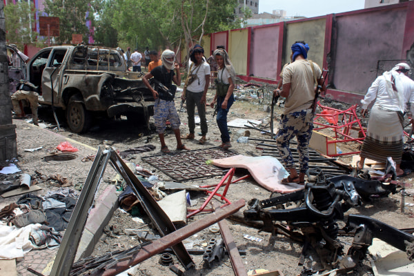 Image: The scene of the bombing in Aden