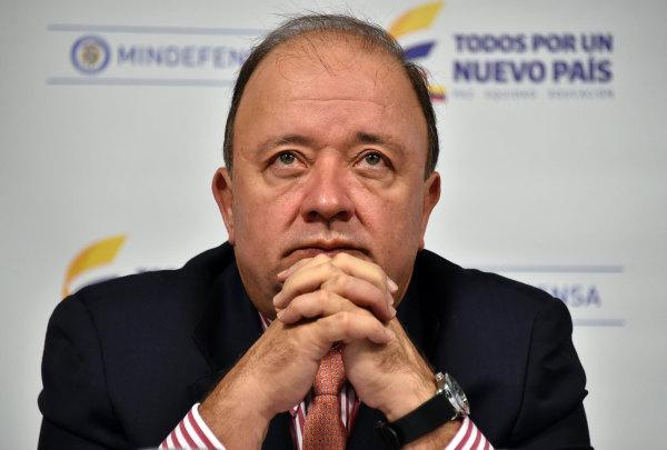 Colombian Defense Minister Luis Carlos Villegas
