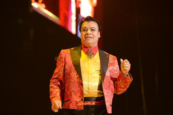 """Singer Juan Gabriel performs during his """"Volver Tour 2014"""""""