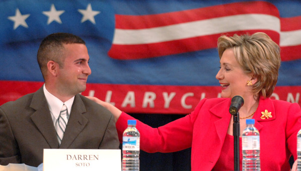 File photo:  Darren Soto and Hillary Clinton.