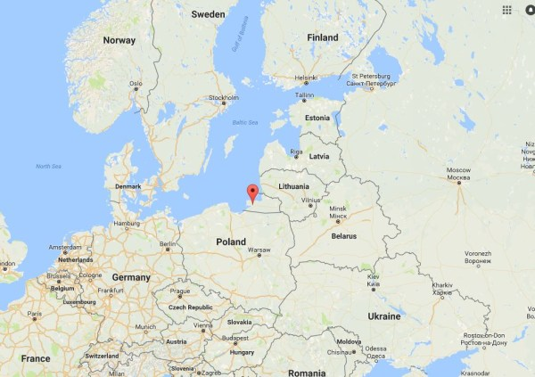 Image: Map showing Kaliningrad, Russia
