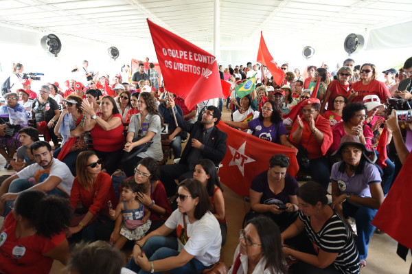 Supporters of Brazilian suspended President Dilma Rousseff