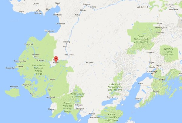 Image: Map showing Russian Mission, Alaska