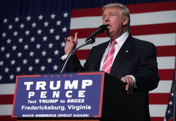 Image: Donald Trump Holds Campaign Rally In Fredericksburg, VA