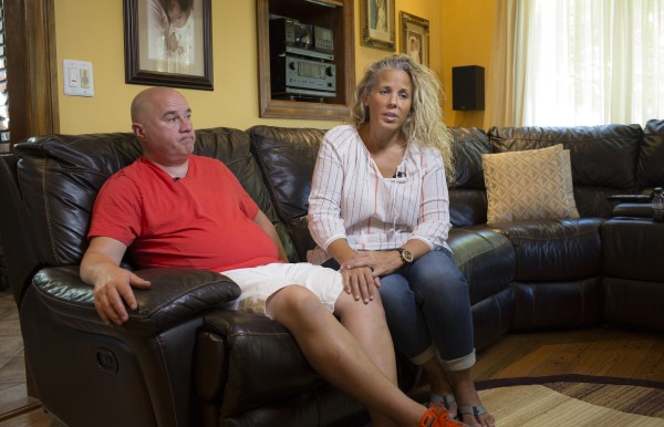 Image: Sal Turturici and his wife Wendy talk about the last year since Sal was diagnosed with Stage 4 terminal cancer which was linked to his work in 2002 aiding in the recovery of victims of the 9/11 attacks in New York in 2001.