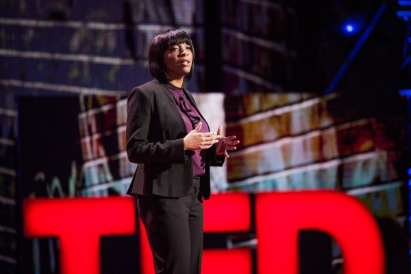 Nadia Lopez speaks at TED Talks Live -- Education Revolution, November 2, 2015, The Town Hall, New York City.