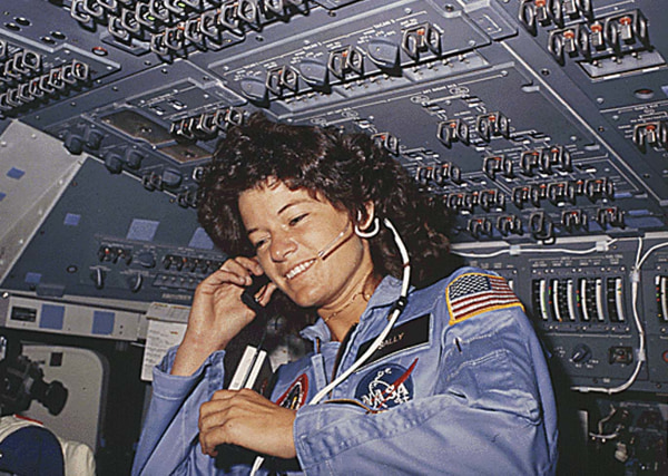 Image: Sally Ride in June 1983