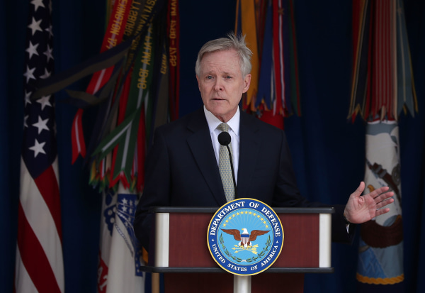 Navy Secretary Ray Mabus Speaks At The Pentagon's LGBT Pride Month Ceremony