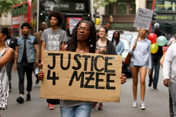 Image: Black Lives Matter demonstration for Mzee Mohammed in London