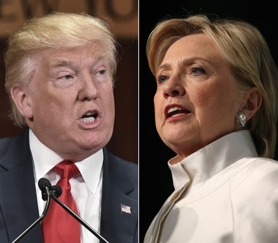 Image: Presidential nominees Donald Trump and Hillary Clinton