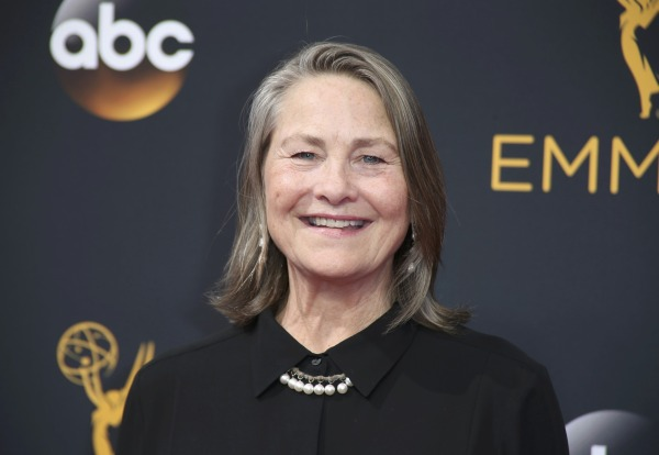 """Image: Actress Cherry Jones from the Amazon series """"Transparent"""" arrives at the 68th Primetime Emmy Awards in Los Angeles, California"""