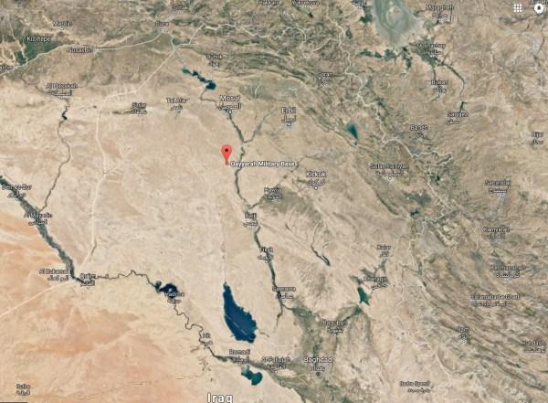 Image: Qayara air base