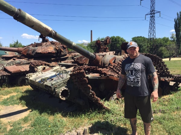 Image: Jeff Monson in Luhansk
