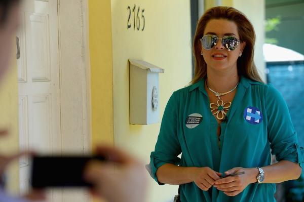 Image: Alicia Machado Campaigns For Hillary Clinton