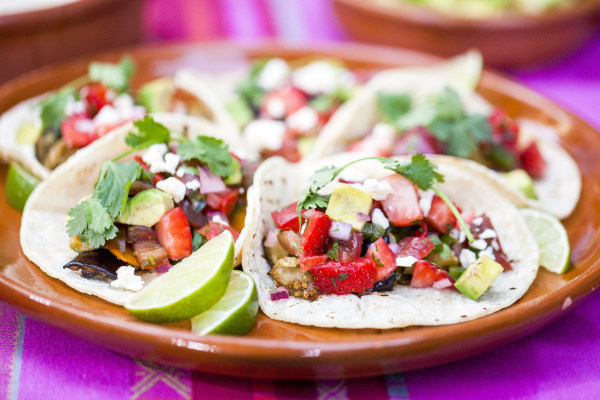 Image: Siri Daly's recipe for roasted veggie tacos and strawberry salsa