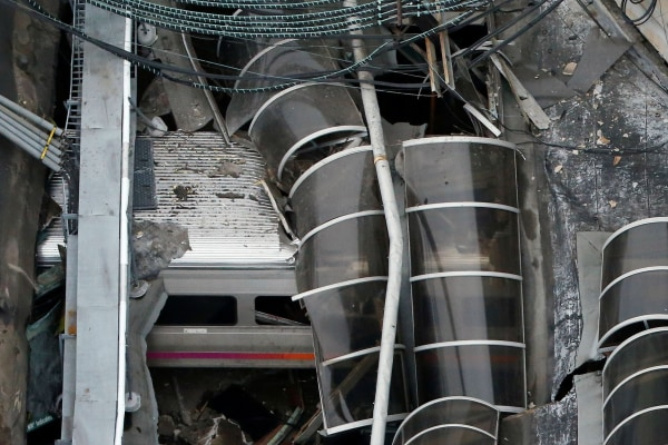 Image: Train car inside Hoboken Terminal